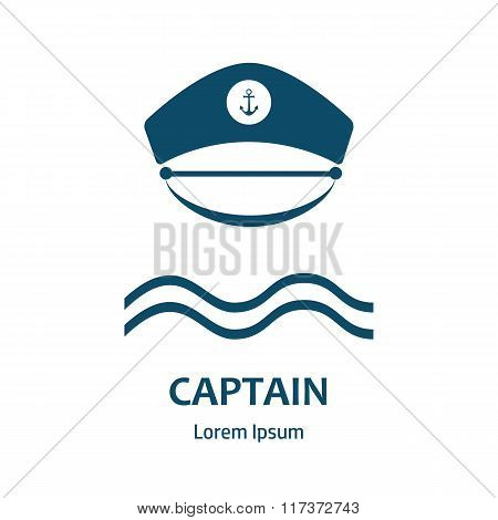 Captain Hat Flat Icon