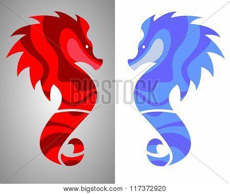 stock logo seahorse