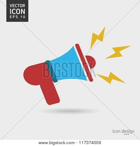 Megaphone icon design