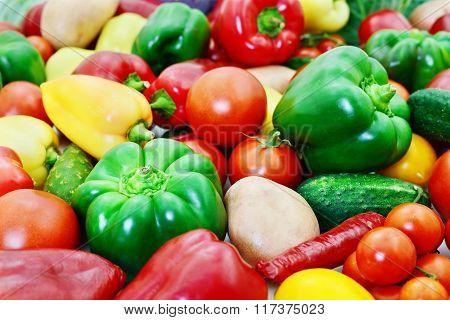Different Vegetables Background.