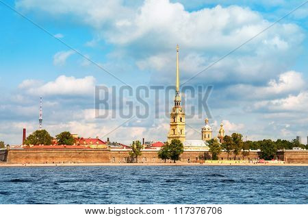Paul And Peter Fortress In Saint Petersburg