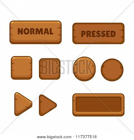 Wooden Game Buttons