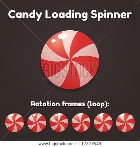 Candy Spinning Animation