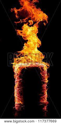 Burning Yarn Coil