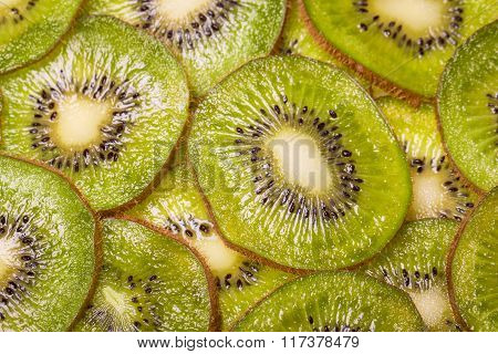 fresh slice kiwi ,macro background ,healthy food
