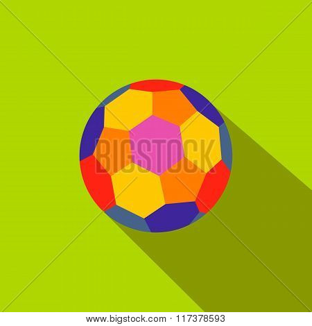 Colorful ball flat icon