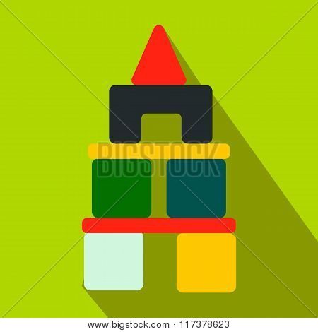 Children blocks flat icon