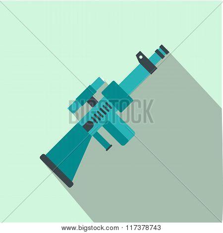 Toy gun flat icon