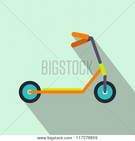 Kick scooter flat icon