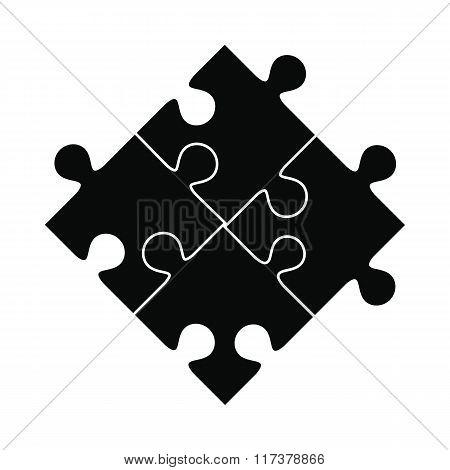 Puzzle black simple icon