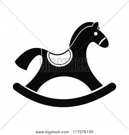 Children rocking horse icon