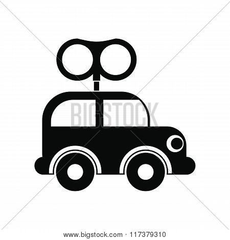 Clockwork toy car icon