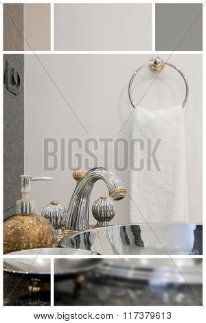 Washbasin With Silver Faucet
