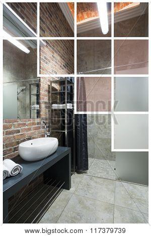 Contemporary Toilet Interior