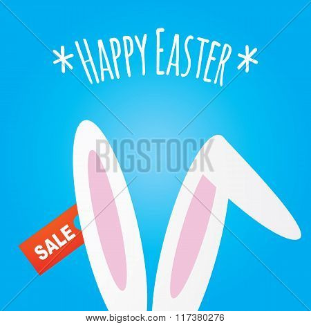 Easter Bunnies Ears And Sale Sticker
