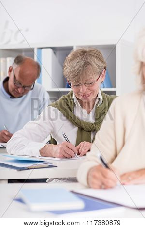 Diligent Elderly Student