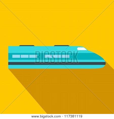 High speed train flat icon