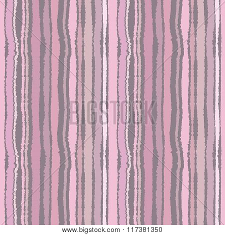 Seamless strip pattern. Vertical lines with torn paper effect. Shred edge background. Pastel colors.