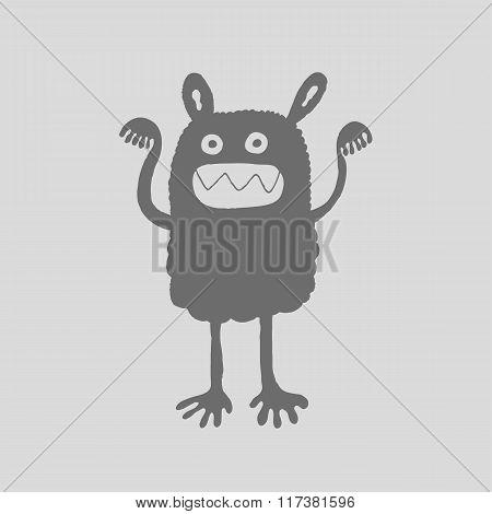 Monster Silhouette, Vector Illustration