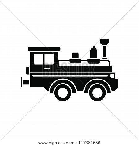 Train locomotive black simple icon