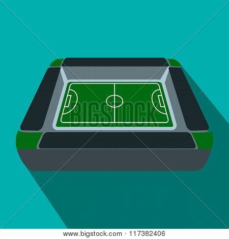 Square soccer field flat icon