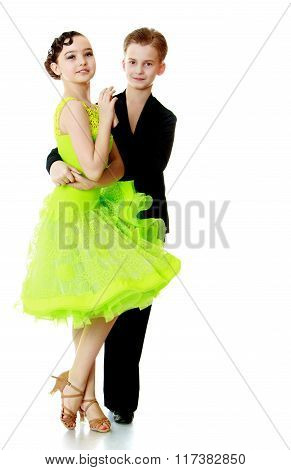 beautiful couple dance