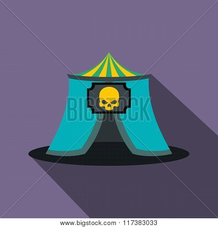 Haunted house flat icon