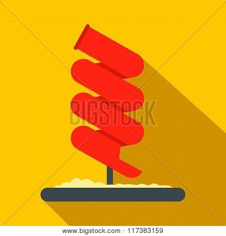 Tubular slide flat icon
