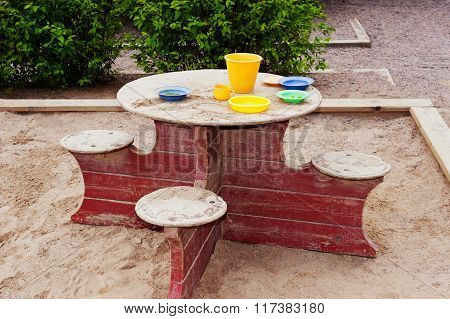 Wooden Table For Children To Play
