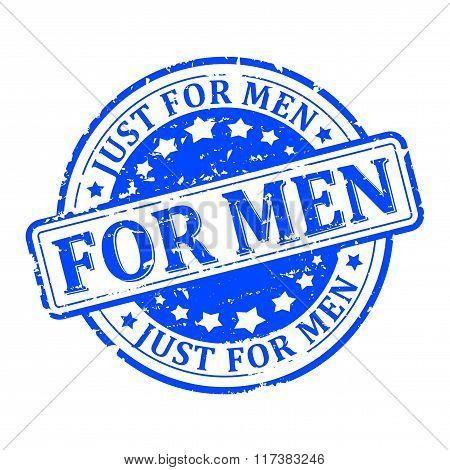 Damaged Round Blue Stamped - Just For Men - Vector