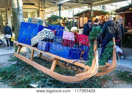 Christmas Market In  Baden-baden, Germany