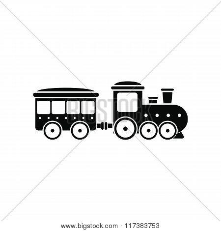 Train in amusement park icon