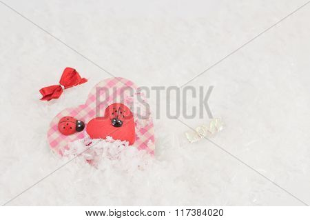 Heart In Fake Snow