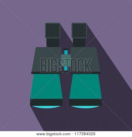Binoculars flat icon