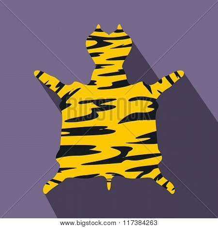 Leopard fur flat icon
