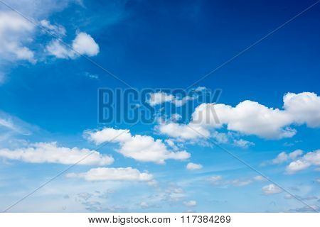 Beautiful Clouds In The  Blue Sky Of Thailand