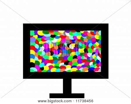 Colorful Television Screen Background