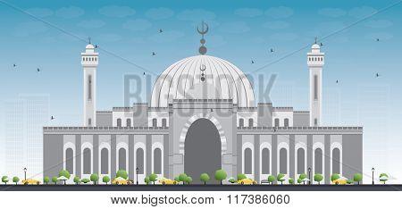 Al Fateh Grand Mosque in Manama City. Bahrain.