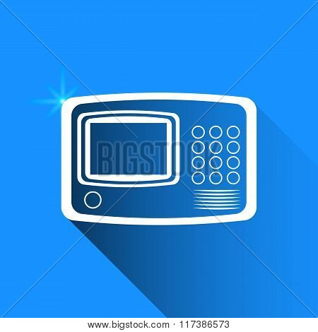 Intercom On Blue Background