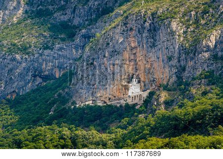 Ostrog monastery in the mountain