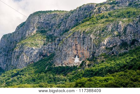 Mountain landscape with Ostrog monastery