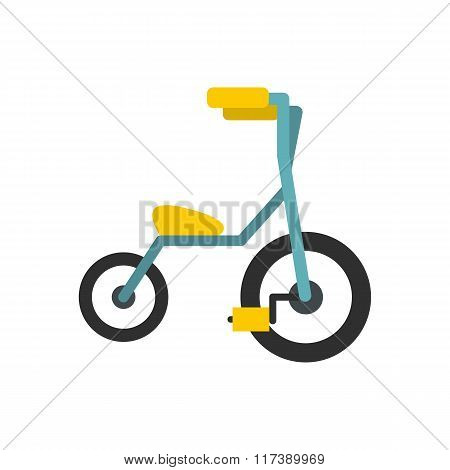 Baby tricycles flat icon