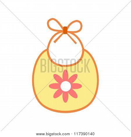 Baby bib flat icon