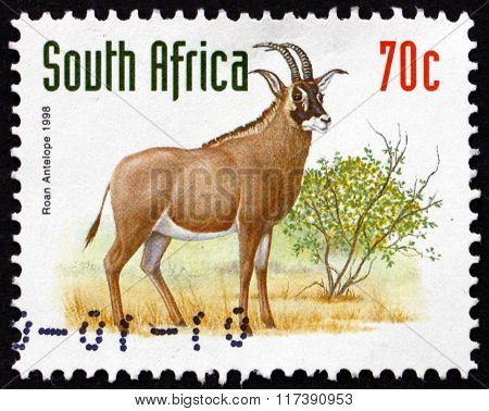 Postage Stamp South Africa 1998 Roan Antelope, Savanna Antelope