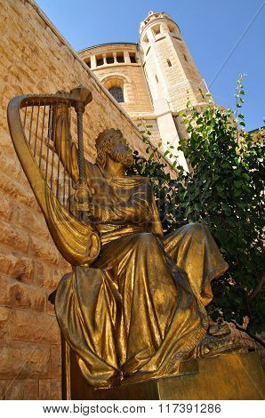 King David statue.