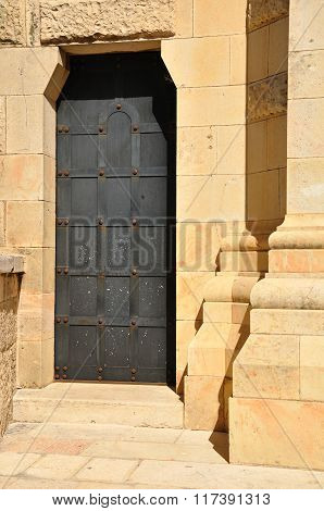 Abbey door.