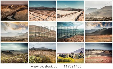 mountain roads, views and sights of Lanzarote