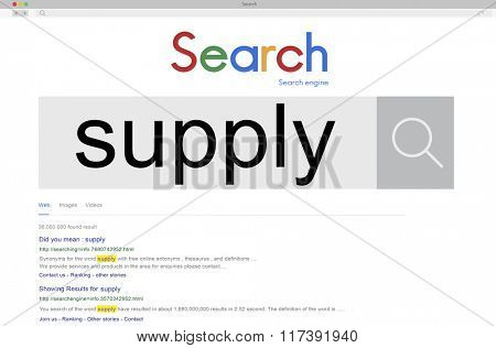 Supply Distribution Industrial Production Marketing Concept