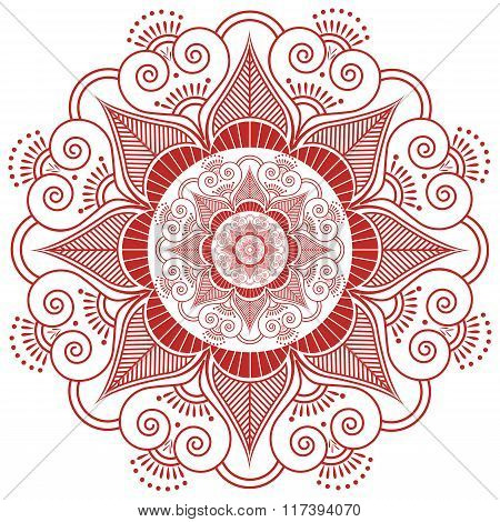 Asian culture inspired  wedding makeup mandala henna tattoo decoration flower shape