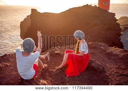 Couple enjoying summer vacation